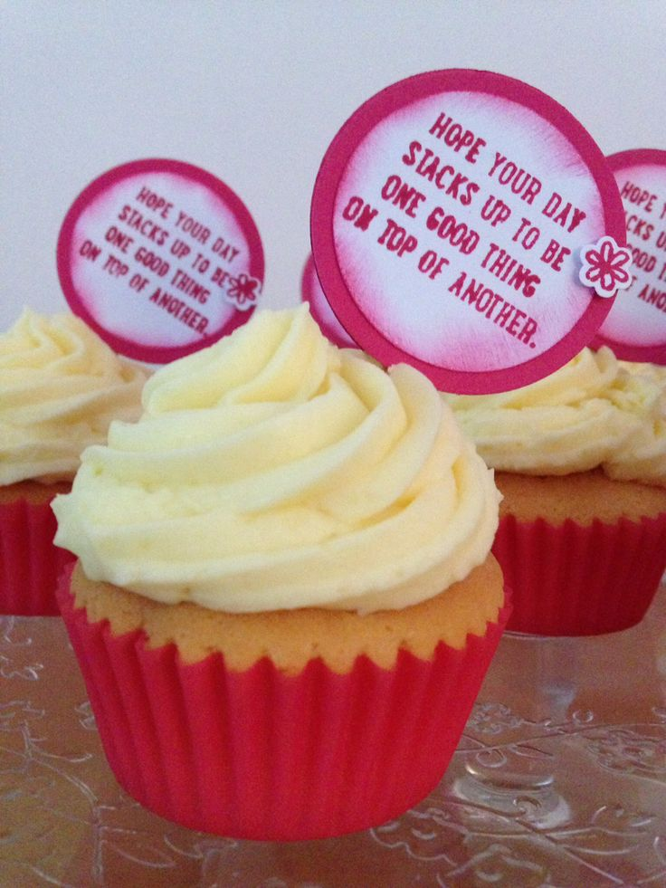 Cupecaketext made from the stampset Sprinkeles of Life