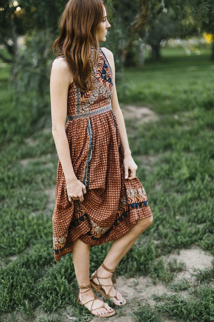 relaxed boho day dress