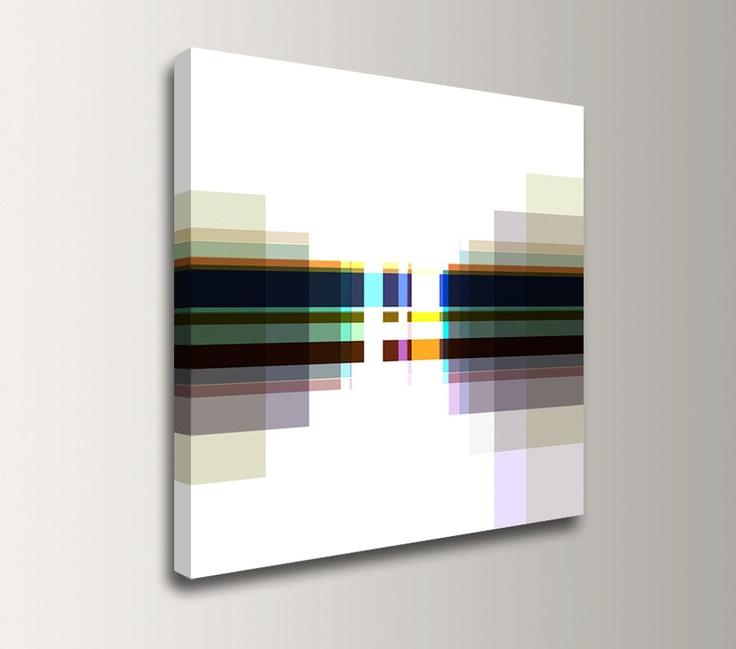 Minimalist abstract print neutral tones canvas print navy dark brown white muted - Insulating exterior paint minimalist ...