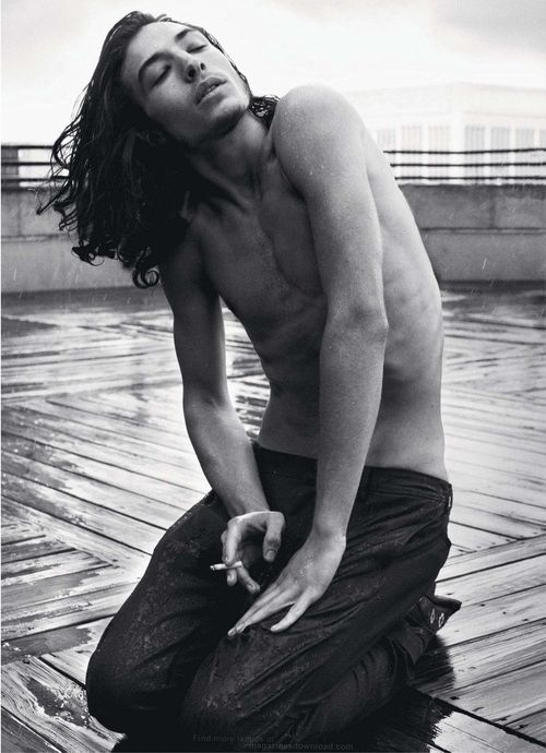 Ezra Miller. Oh God, he's so beautiful, I'm going to die.