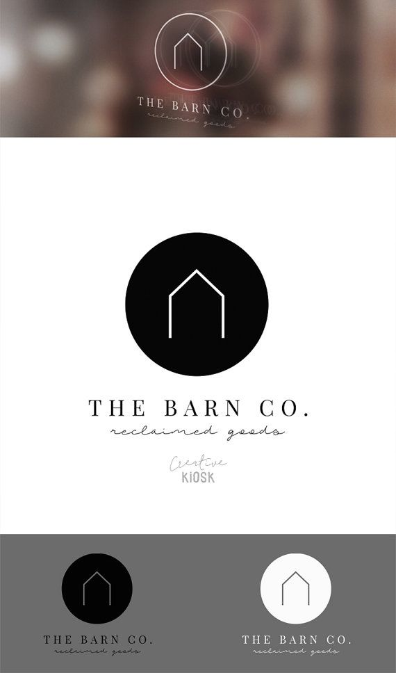 Simple Barn Logo. Modern Logo Design. Etsy Shop от CreativeKiosk