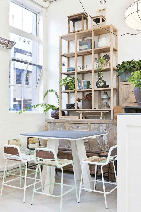 BLACKBIRD: DAVIDS RESTAURANTDining Area, Kitchens Shelves, Dining Room, Hospitals Design, Loft Style, Interiors Design, Small Spaces, Urban Rustic, Shelves United