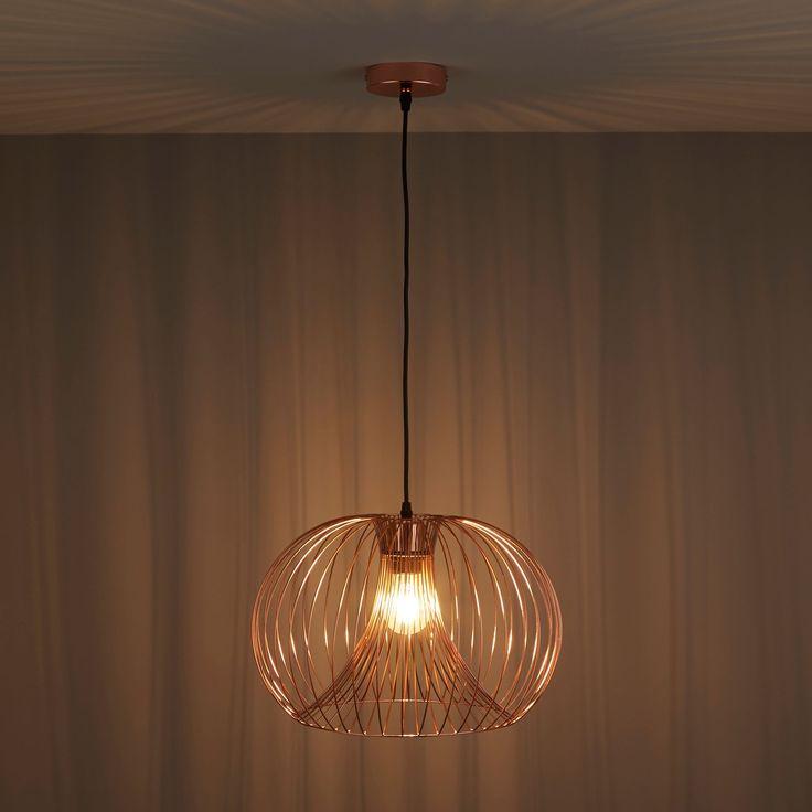 Jonas Wire Copper Pendant Ceiling Light   Departments   DIY at B&Q