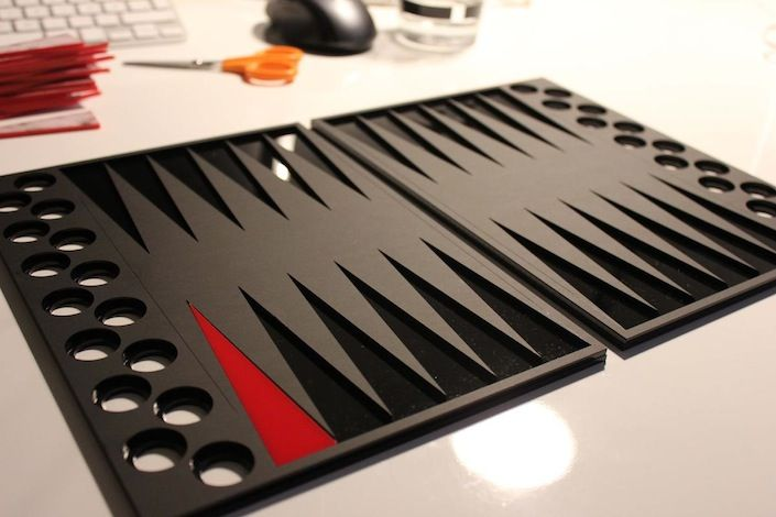 Assembly of backgammon