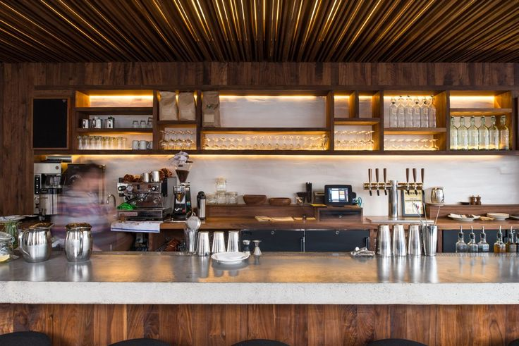 Lighting On The Bar Is Staggered Through A Soffit Of