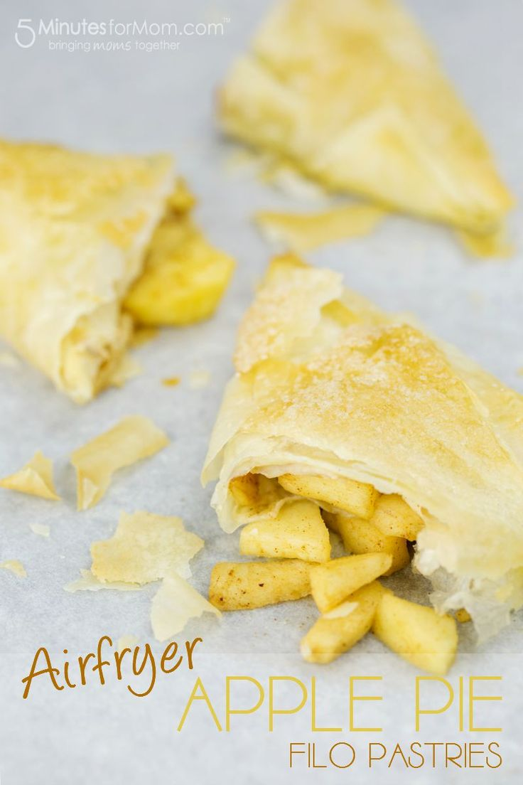 Apple Pie Filo Pastries Recipe - When you taste these ever so light and crispy Airfryer Apple Pie Filo Pastries you will be in apple pie heaven. Janice made these for a sponsored campaign. Hope you love them as much as we do.