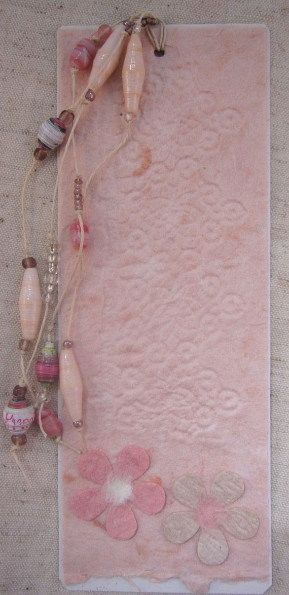 Tagbookmark with  handmade paper by pipsqueekcreations on Etsy