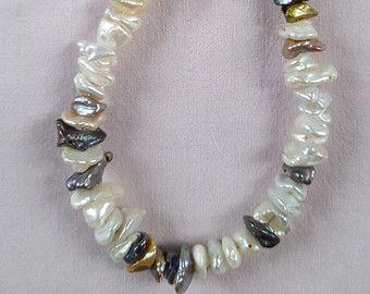 Keshi Perlen Collier 125Kette für Frauen Kette Hochzeit