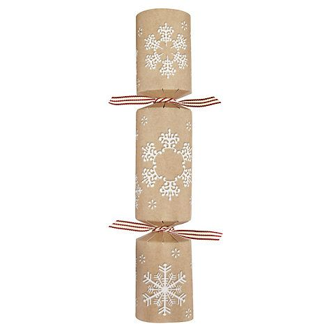 22 best christmas crackers make your own images on pinterest buy john lewis kraft snowflake fill your own crackers set of 6 online at johnlewis solutioingenieria