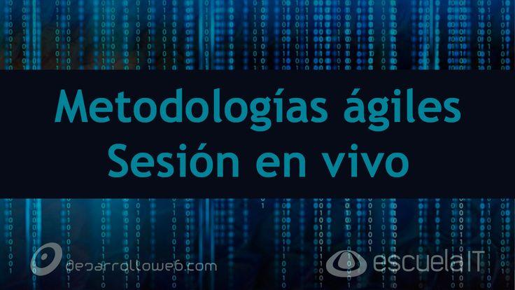 Ya está disponible la grabación de la sesión dedicada a las metodologías ágiles para el desarrollo de software: https://youtu.be/BdyQXe0ZvUE
