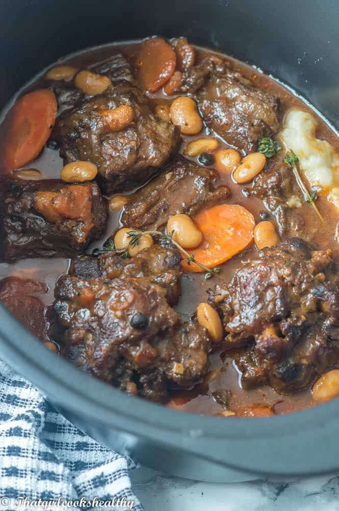 Jamaican Oxtail Stew With Butter Beans That Girl Cooks Healthy Recipe Jamaican Oxtail Oxtail Recipes Oxtail Stew