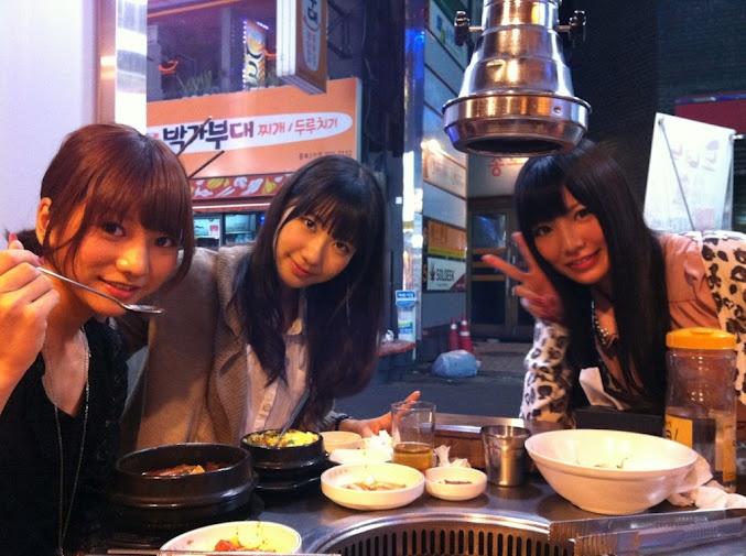 Akicha, Yukirin and Mocchi #AKB48 #FrenchKiss