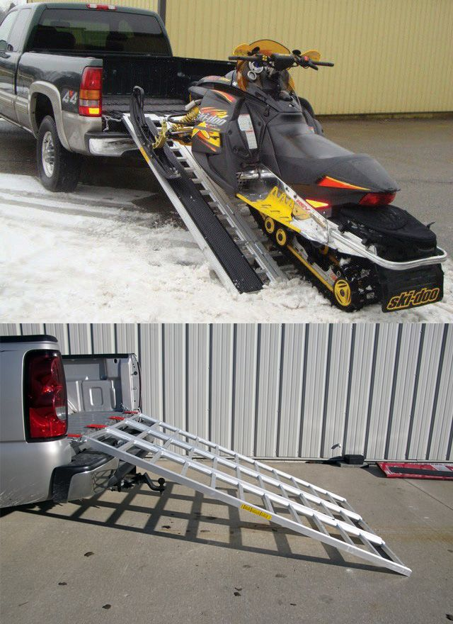 Pickup Truck Ramps >> Aluminum ramp makes it easy to load your ATV or snowmobile ...