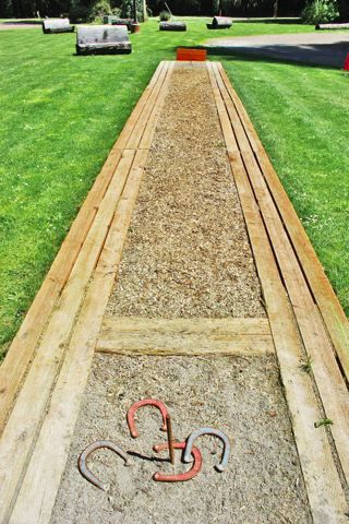 horseshoe pit - don't love how boring this is but the edging is interesting.