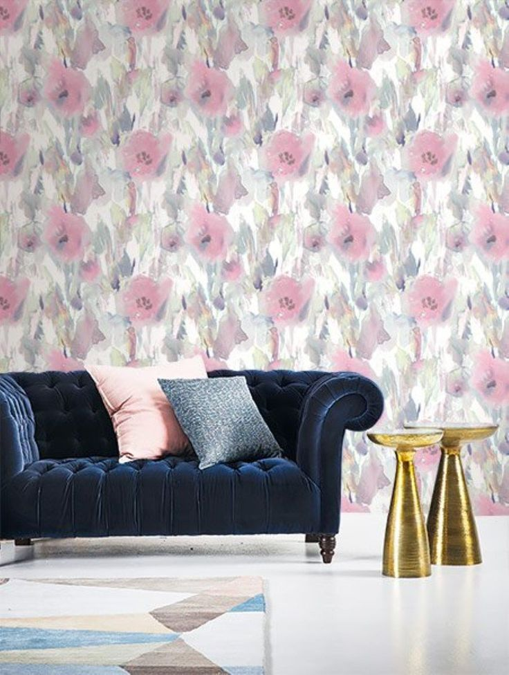 A foral watery ink design from our latest wallpaper collection, L'Atelier de Paris.  Available in natural tones, soft pink and green.