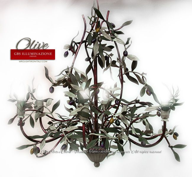 olive wrought iron chandelier - Wrought Iron Chandelier