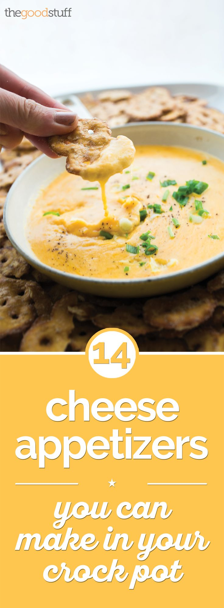 14 Cheese Appetizers You Can Make in Your Crock Pot | thegoodstuff