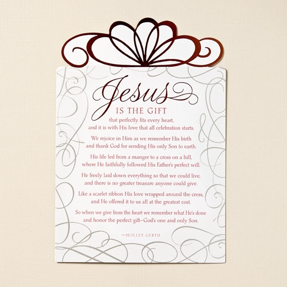Jesus is the gift christmas card poem love