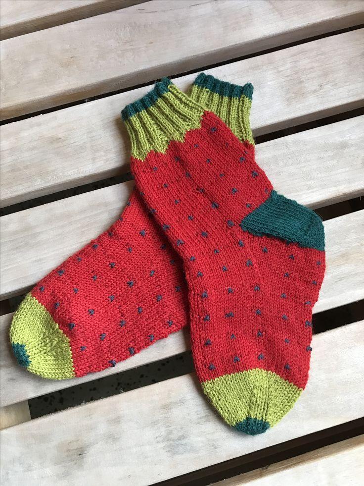 Vattenmelon sockor design tant ulltuss