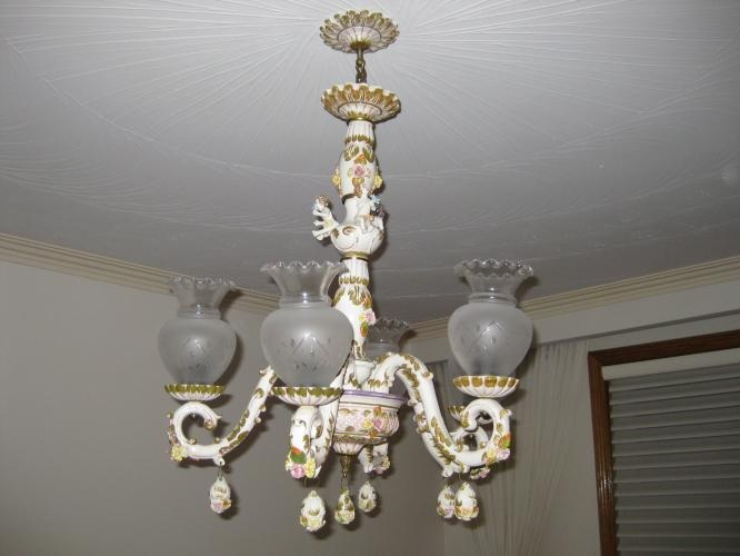 Mejores 84 imgenes de lamps chandeliers light fixtures en image detail for beautiful antique capodimonte chandelier for sale in mississauga aloadofball Images