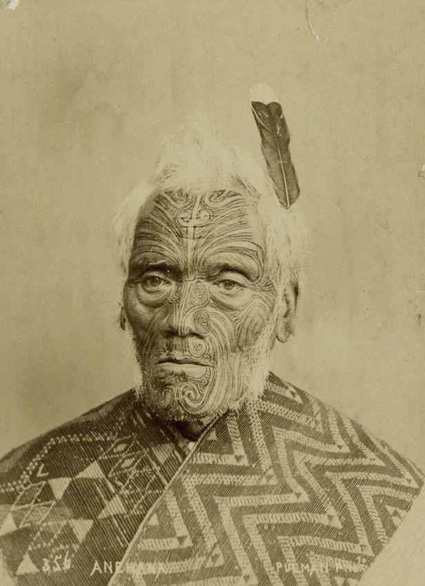Pulman & Son-Portrait of the Maori Chief Anehana