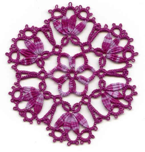 Rose de Noel by Elisa du Sud and variation by Mimi Dillman ... with free patterns & diagrams ... *p*