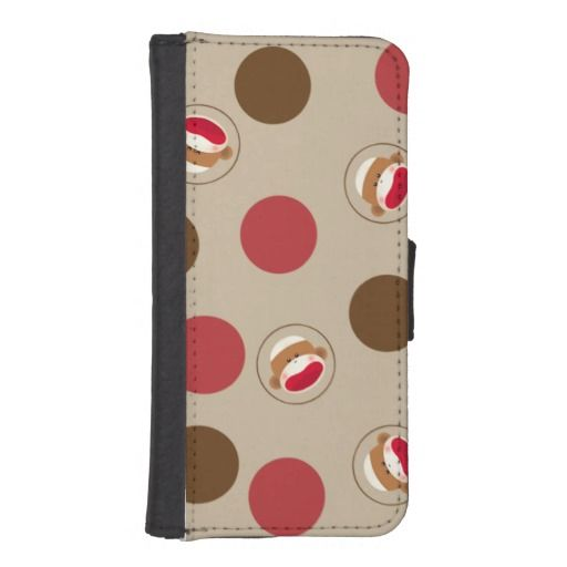 Sock Monkey Polka Dots(Red&Brown) iPhone 5/5s