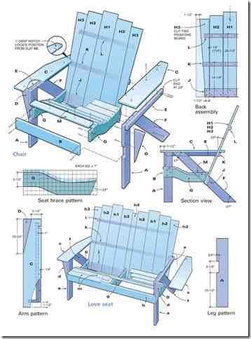 16 best TV Adirondack chair plans images on Pinterest ...