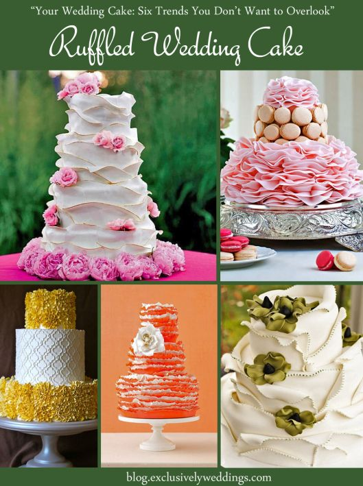 116 best exclusively weddings blog images on pinterest ruffled wedding cake your wedding cake 6 trends you dont want junglespirit Images