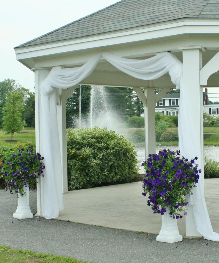 use fabric tulle to decorate gazebo kristen 39 s wedding