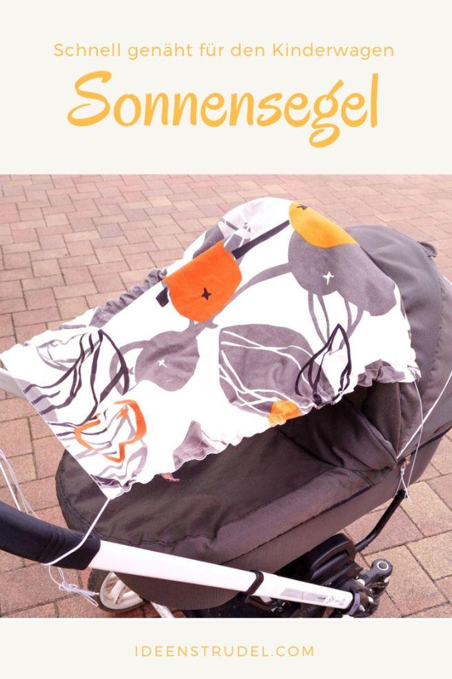 Sonnensegel für den Kinderwagen – einfach und schnell selbst genäht