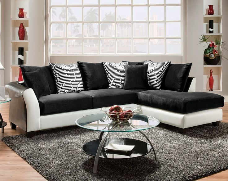 Black And White Sectional Couch : black white sectional - Sectionals, Sofas & Couches