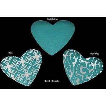 New Zealand Fused Glass Heart by Cre8ive Glass