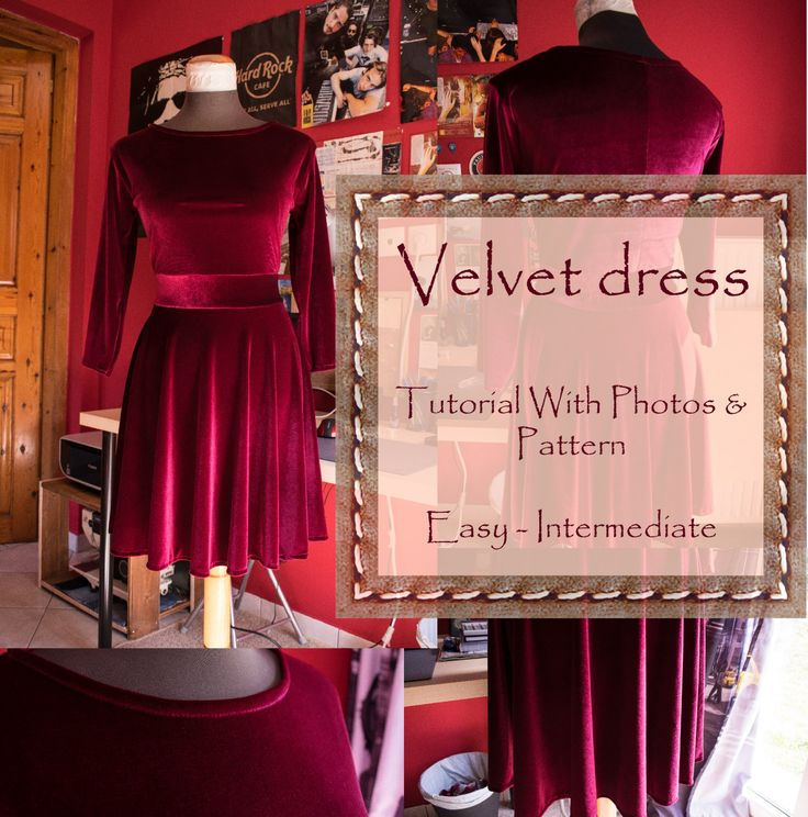 Velvet Dress: Tutorial & Pattern – BIPOLAR BEAR
