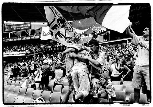Sydney FC Supporters 2 by alexkess, via Flickr