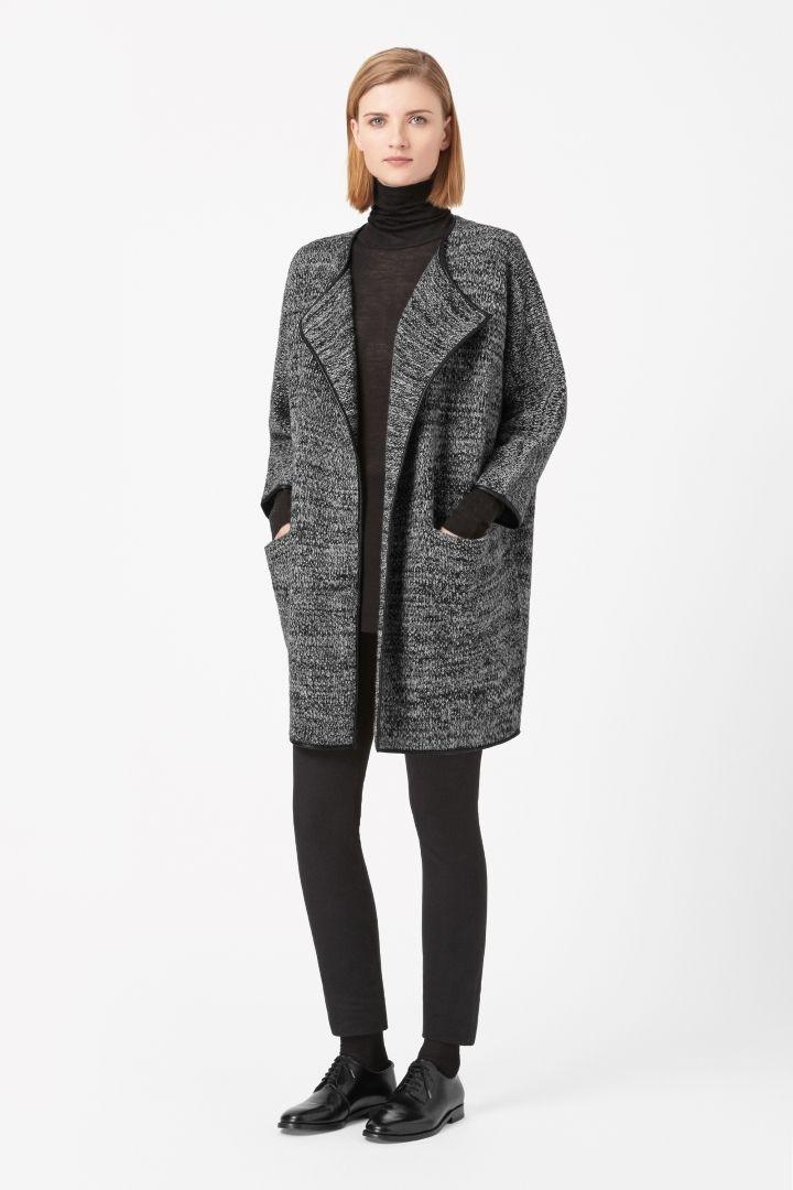 COS | Leather trim cardigan
