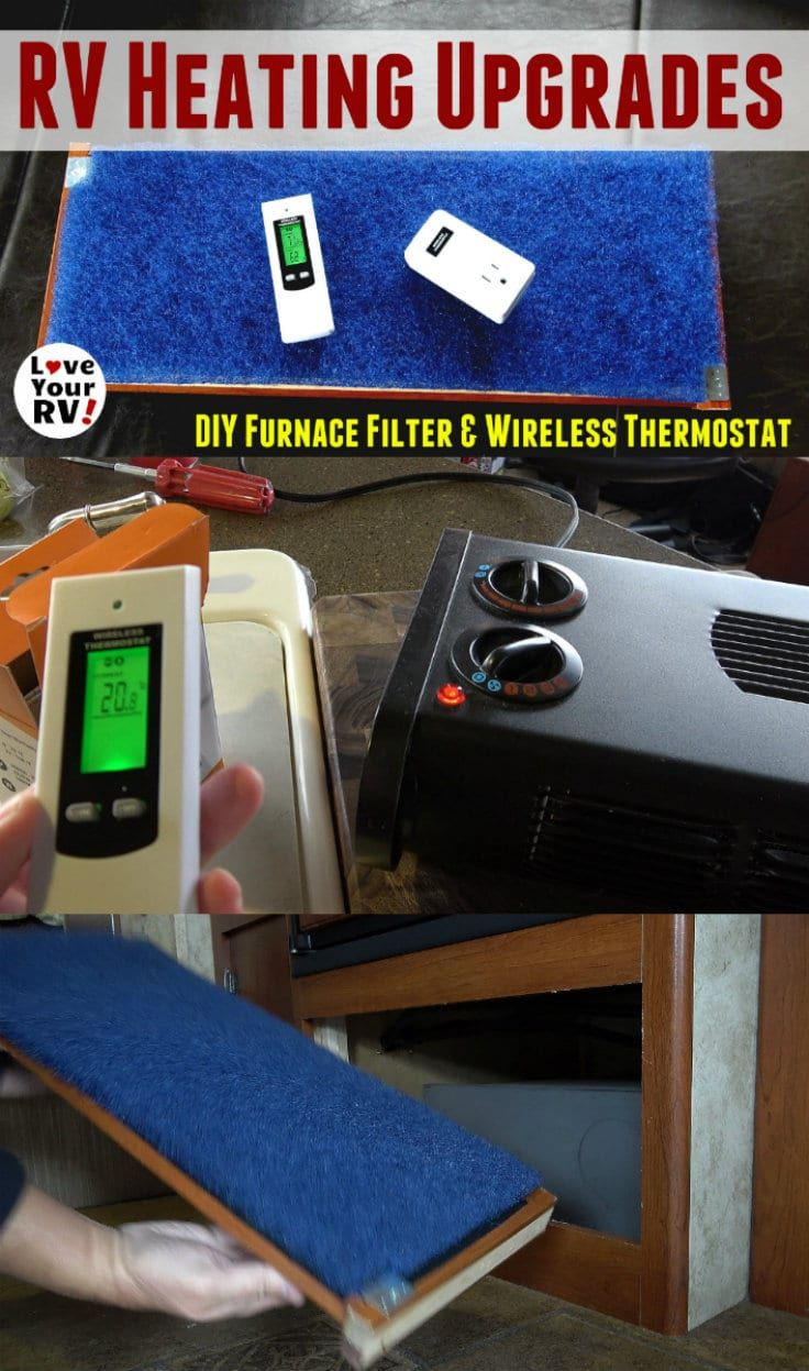 RV Heating Upgrades DIY Furnace Filter and Wireless