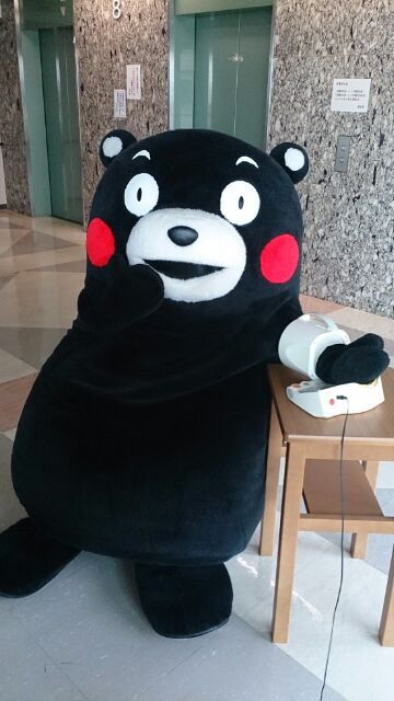Kumamon is watching his health. Let's all follow his example & get check our health