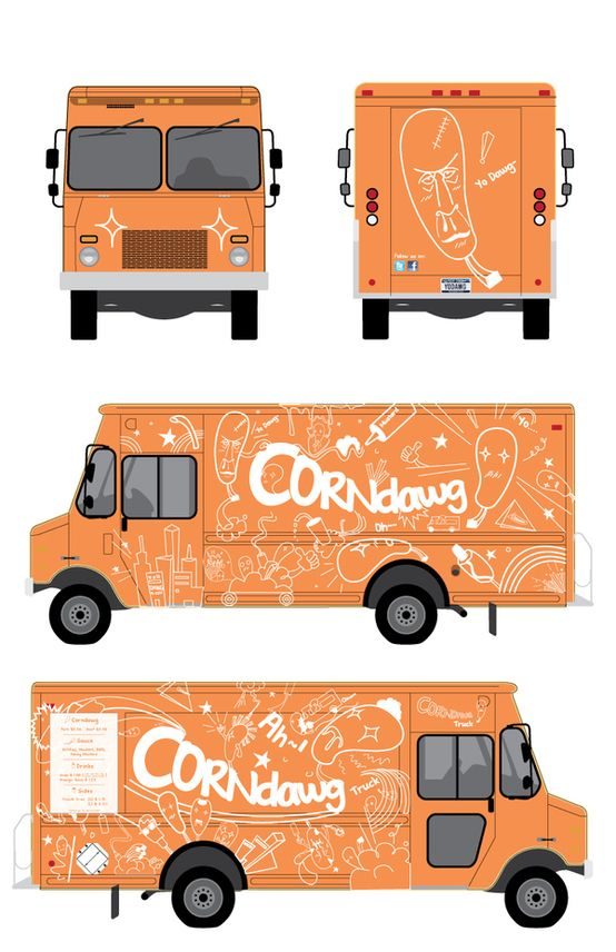 Corndawg Foodtruck by Tae S. Yang, via Behance