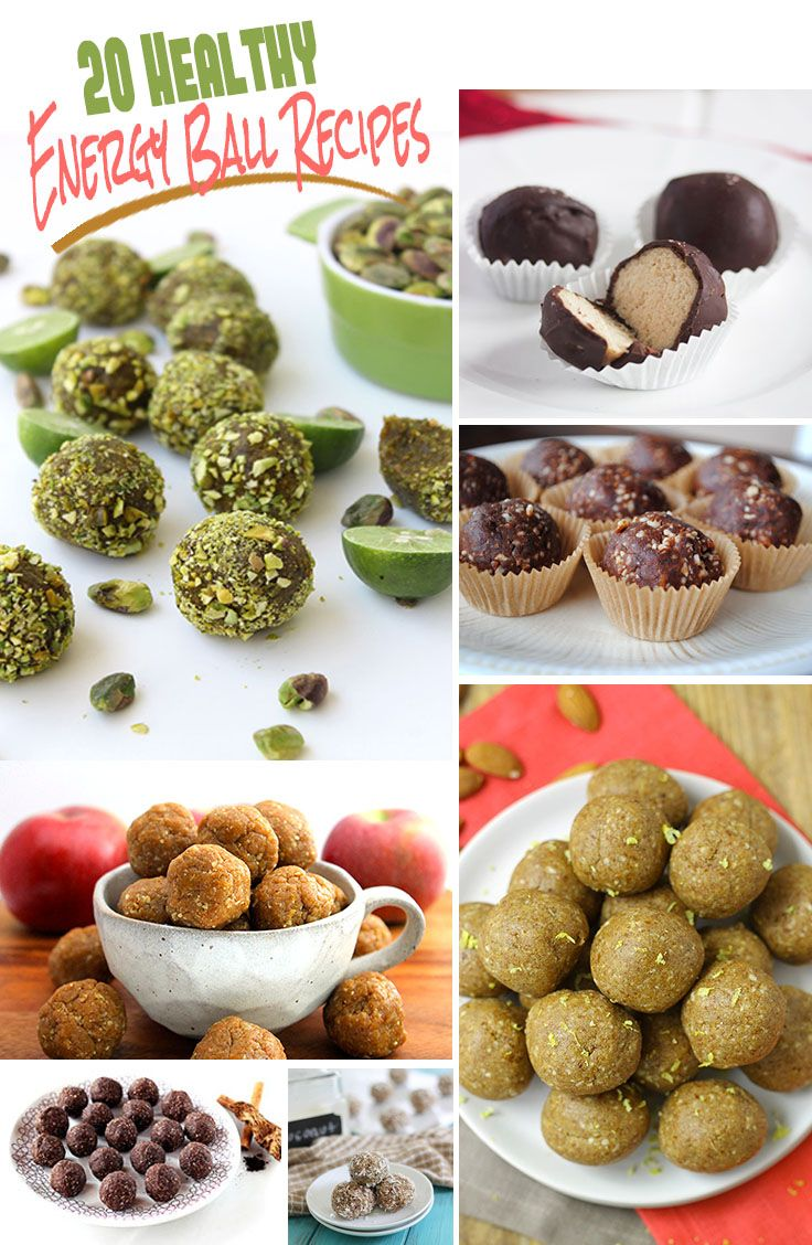 20 Healthy Energy Ball Recipes - who doesn't love energy balls?!  These little gems can pack some serious punch and you're certain to find ones you love with this round-up of 20 of the best energy balls around the web! thehealthymaven.com