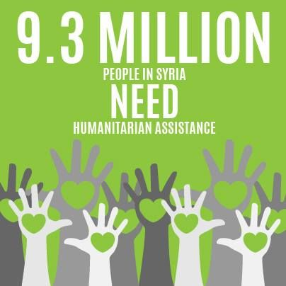 Nov2013. 9.3 Million people in Syria are in need of Humanitarian assistance!!! #syria #infographic