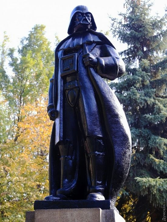 The monument to Darth Vader recently unveiled in Odessa, Ukraine