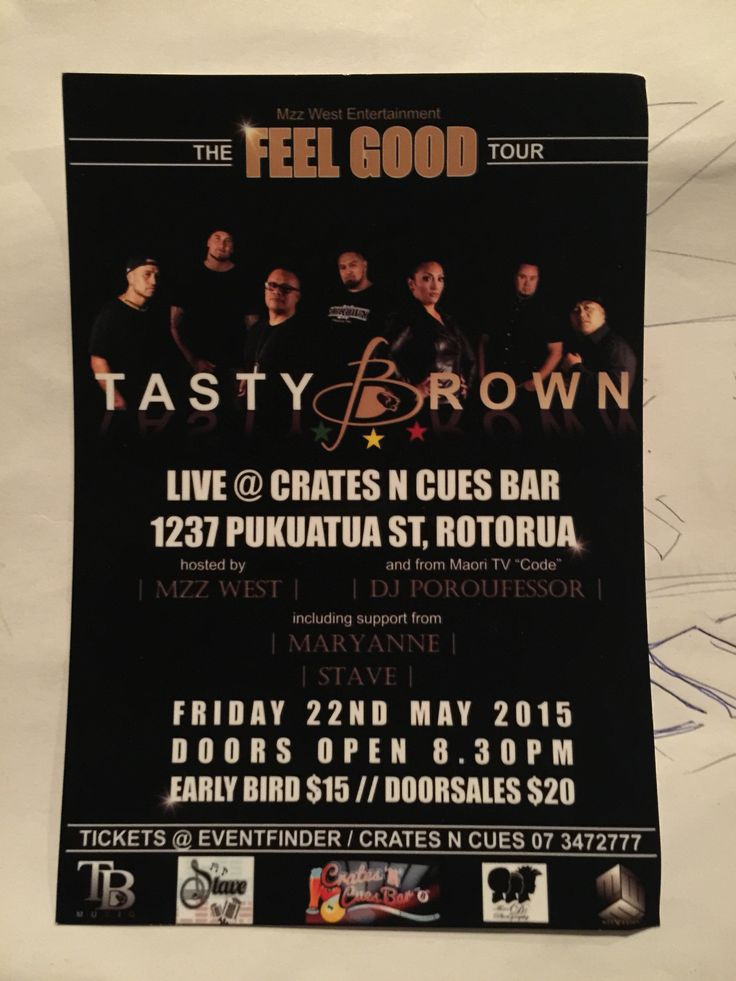 Tasty Brown, DJ Poroufessor, Mz Wes & STAVE to play live in Rotorua this Friday