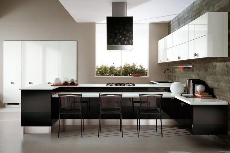 black and white kitchen?