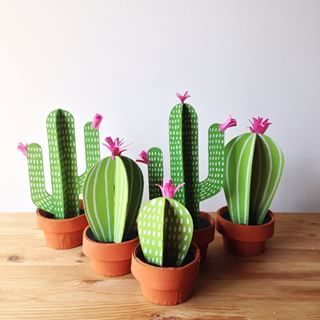 paper cacti by Bramble Workshop