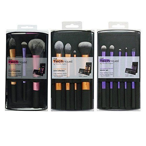 3 Real Techniques Brush Set Travel Essential 1400 Starter Set 1406 Core Collection 1403 ** Want to know more, click on the image.