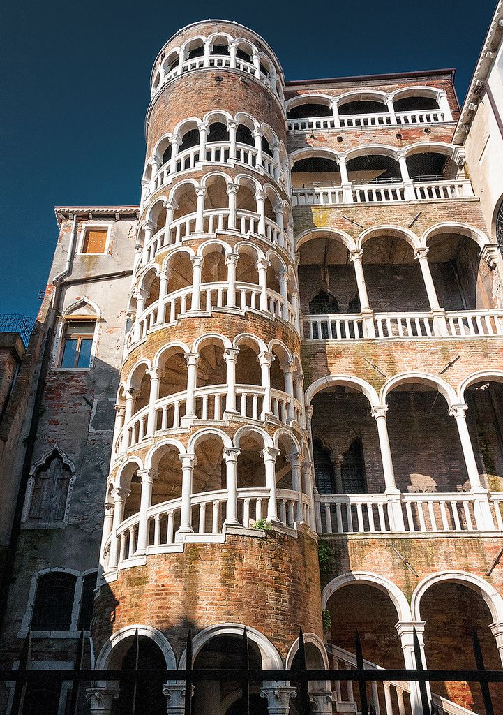 Palazzo Contarini del Bovolo Palace in Venice, Italy - Giorgio Spavento is  believed to be responsible for the addition of the grand spiral staircase  on the ...