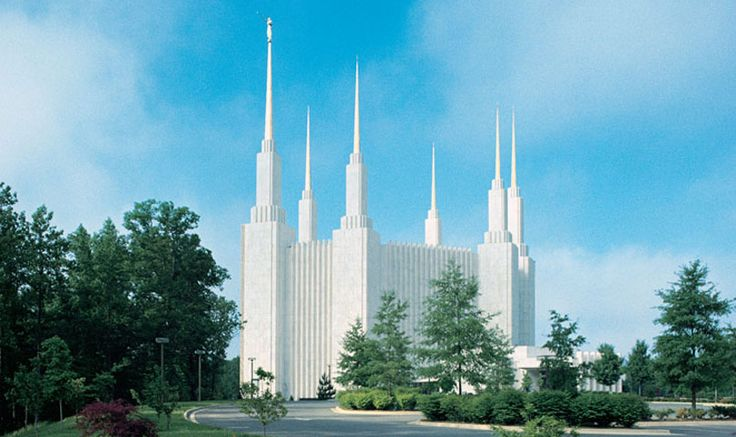 Washington DC LDS Temple. (I got to see this temple with my family while visiting the area.)