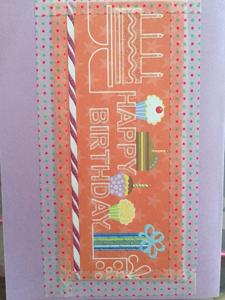 #Geburtstag #Karte #Happy #Birthday #WashiTape #Kind #Basteln #Alles #Gute
