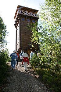 Mäntänvuoren näkötornista on upea näköala yli kaupungin ja Keurusselälle.